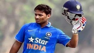 Rishabh Pant celebrates India call-up by smashing 43-runs in 14 balls