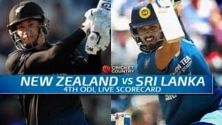 Live Cricket Scorecard: New Zealand vs Sri Lanka 2015-16, 4th ODI at Nelson
