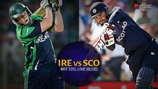 Live Cricket Score, Ireland vs Scotland 2015, 4th T20I at Bready: Match abandoned due to rain