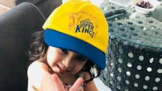 Watch MS Dhoni's daughter Ziva in Chennai cap!