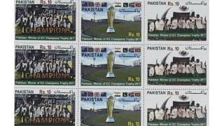 Pakistan government release postage stamps, souvenir sheets to honour CT victory