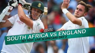 Live Cricket Scorecard: South Africa vs England 2015-16, 1st Test at Durban, Day 3