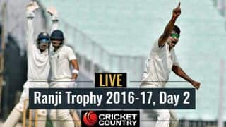 LIVE Cricket Score Ranji Trophy 2016-17, Day 2, Round 3