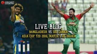 SL 124/8 in 20 Overs | Live Cricket Score, Bangladesh vs Sri Lanka, Asia Cup 2016 BAN vs SL, 5th T20I at Dhaka: BAN win by 23 runs