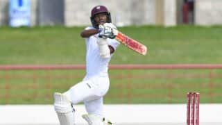 Day 2 Report: Kraigg Brathwaite's calm fifty guides West Indies to 107-1 at stumps vs India