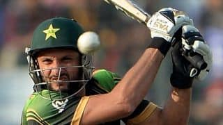 WI vs PAK ICC World Cup 2015: Afridi dismissed for 28