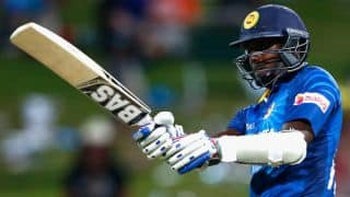 Angelo Mathews dismissed with Sri Lanka 216/8 against New Zealand in ICC Cricket World Cup 2015