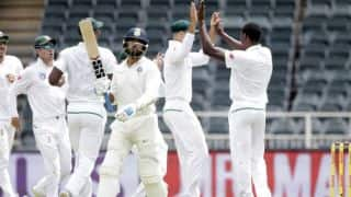 South African pacers restrict India to 45 for 2 at lunch on Day 1, 3rd Test