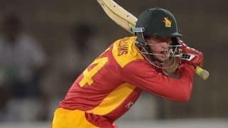 Sean Williams, Richmond Mutumbani dismissed against Pakistan in 1st T20I at Harare