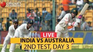 भारत बनाम ऑस्ट्रेलिया, दूसरा टेस्ट(दिन का खेल खत्म): तीसरे दिन भारत ने 126 रनों की बढ़त हासिल की