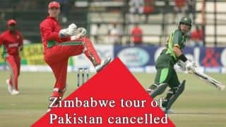 Zimbabwe's tour of Pakistan cancelled