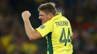 Ravichandran Ashwin dismissed for 5 by James Faulkner against Australia in ICC Cricket World Cup 2015 semi-final