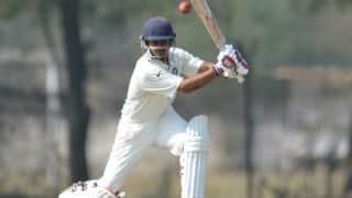 रणजी ट्रॉफी 2017-18, राउंड 6, ग्रुप बी: प्रियांक पांचाल ने एक और शतक जड़ा, बेसिल थम्पी ने की शानदार गेंदबाजी