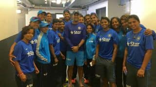 PHOTO: MS Dhoni poses with Indian Women's team following historic series wins in Australia