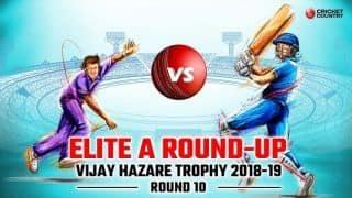 Vijay Hazare Trophy 2018-19 Elite A: Day of no results