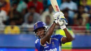 Sanju Samson departs for 26 in Sunrisers Hyderabad vs Rajasthan Royals IPL 2015 Match 11