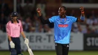 VIDEO: Jofra Archer's hat-trick for Sussex against Middlesex
