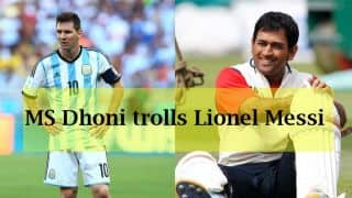 MS Dhoni trolls Lionel Messi after Argentina's win