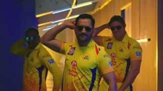 Watch Dhoni hog the limelight in CSK 'whistle podu' anthem