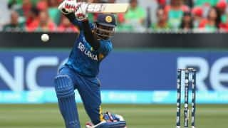 Sri Lanka bring up 50 in ninth over ICC Cricket World Cup 2015 against England
