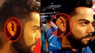 Virat kohli wax statue ear damaged Madame Tussauds in Delhi
