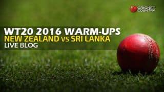 SL 152/7 in Overs 20 Live Cricket Score, New Zealand vs Sri Lanka, ICC World T20 2016 warm-up match, NZ vs SL at Mumbai: New Zealand win by 74 runs