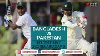 Live Cricket Scorecard, Bangladesh vs Pakistan 2015: 1st Test at Khulna, Day 5