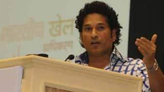 Sachin Tendulkar congratulates World Cup winning Indian blind cricket team