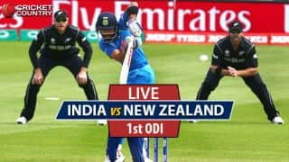IND 104/3 (22) | LIVE CRICKET SCORE, India vs New Zealand, 1st ODI at Mumbai: Santner dismisses Jadhav