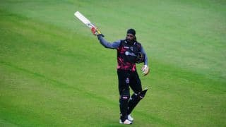Chris Gayle ends his Somerset stint with half-century