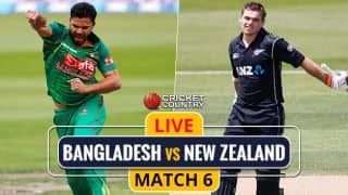 Live Cricket Score, BAN vs NZ, 6th ODI, IRE Tri-Series 2017: NZ losing wickets in a hurry