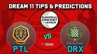 Dream11 Team PTL vs DRX Minor Play-offs European Cricket League-T10 – Cricket Prediction Tips For Today's T10 Match St. Petersburg Lions vs Dreux Cricket Club at La Manga Club