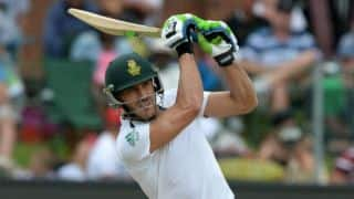 Faf du Plessis caught shining the ball with mint