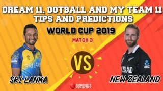 Dotball Prediction, Dream11 Prediction, My Team 11 Prediction: SL vs NZ Cricket World Cup 2019, Match 3 Team Best Players to Pick for Today's Match between Sri Lanka and New Zealand at 3 PM