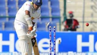Junaid Khan's fifer rocks Sri Lanka at tea
