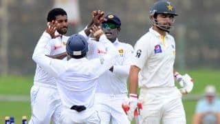 Pakistan reeling at 59/3 at lunch on Day 1 of 1st Test against Sri Lanka at Galle