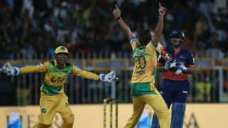 Afridi takes hat-trick in T10 League 2017; makes Sehwag his third victim
