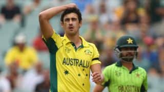 Mitchell Starc becomes leading wicket-taker again in ICC Cricket World Cup 2015