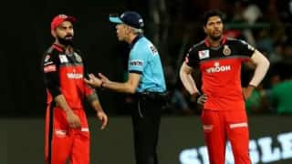 IPL 2019: Umpire Nigel Llong kicked the door to the umpires' room after arguing with Virat Kohli over No-ball decision