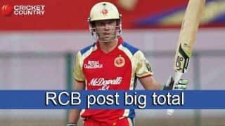 AB de Villiers, Sarfaraz Khan take Royal Challengers Bangalore to 200/7 against Rajasthan Royals in IPL 2015