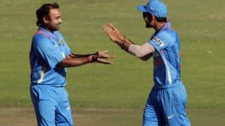 Shah, Ali dismissed by Jadeja