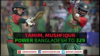 Tamim Iqbal, Mushfiqur Rahim tons power Bangladesh to 329 for 6 against Pakistan in 1st ODI at Dhaka