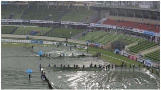 हैदराबाद में मैदान गीला होने के चलते तीसरा टी20 रद्द