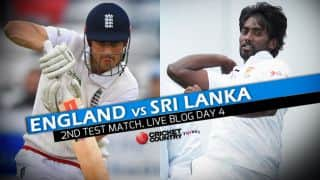 England (ENG) vs Sri Lanka (SL) 2016 Live Cricket Score, 2nd Test, Day 4 ENG 80 for 1: Get updates on live score and ball by ball commentary for Sri Lanka's tour of England