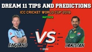 Dream11 Prediction: PAK vs ENG, Cricket World Cup 2019, Match 6 Team Best Players to Pick for Today's Match between Pakistan and England at 3 PM