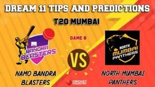 Dream11 Prediction: NBB vs NMP Team Best Players to Pick for Today's Match between North Mumbai Panthers and NaMo Bandra Blasters in MPL 2019 at 7:30 PM