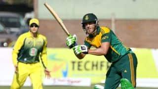 Australia vs South Africa, Zimbabwe Tri Series 2014 final: Faf du Plessis reaches 10th ODI fifty