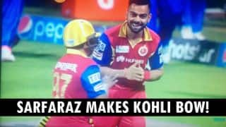 When Virat Kohli bowed to Sarfaraz Khan with respect