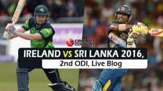 IRE 216 in 40.4 Ovs, Ireland vs Sri Lanka 2016, Live Cricket Score, 1st ODI at Dublin: SL win by 76 runs (D/L method)