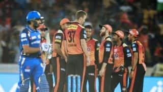 IPL 2018, MI vs SRH, Full Cricket Score and Updates, Match 23 at Wankhede:  Kumar, Krunal hold fort